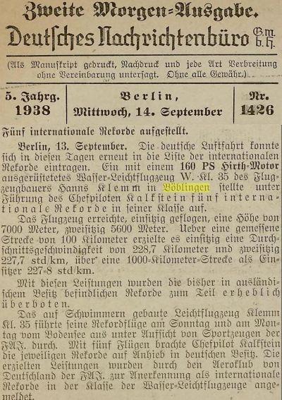 Böblingen Kalkstein Weltrekorde