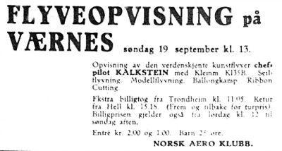 Kalkstein 00 Flystevner på Værnes4 - Veranstaltung 1937