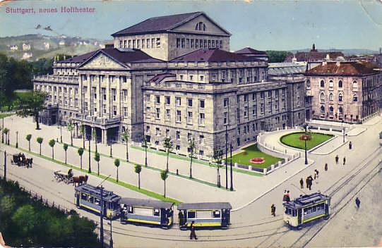 stuttgart - hoftheater 1912