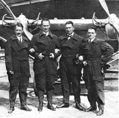 4 Deutscher Rundflug 1925 ,vl Schrenk,Lörzer,Siebel,Guritzer (Supf)