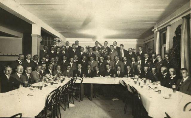 7 Deutscher Rundflug 1925 Empfang Klemm-Mannschaft beim Festakt nach der Rückkehr vom Rundflug (HdG)