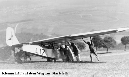 Daimler L17 Segelflug auf dem Weg zur Startstelle