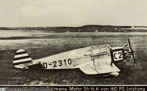 Europa Rundflug 1932 Otto Cuno 7.Platz C2 Klemm KL32 (2)