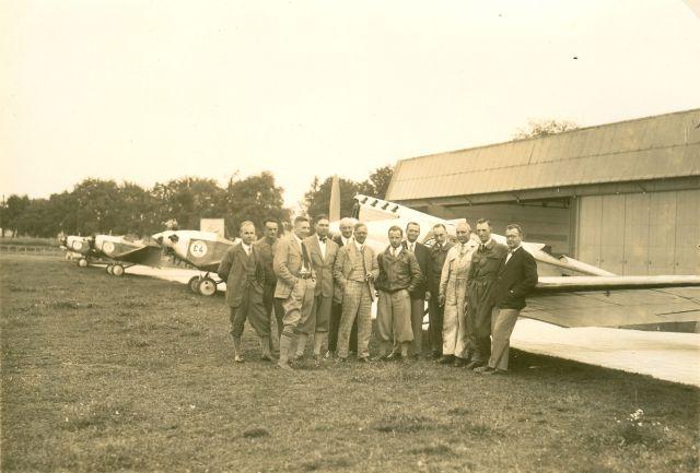 Europarundflug 1929 Böblingen - Mitte Klemm, rechts Lusser