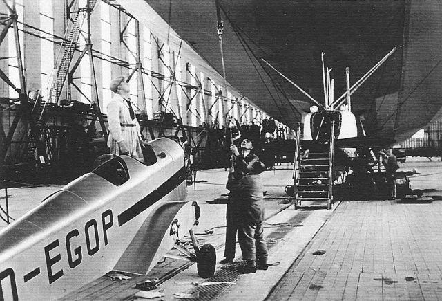 Klemm KL25 D-EGOP Transport im Luftschiff nach Südamerika 1936