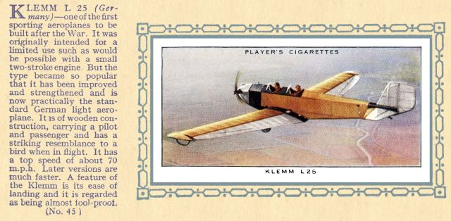 Klemm L25 (Players 45)