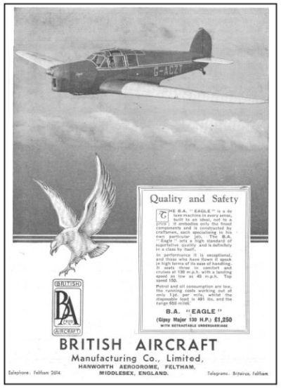 British Aircraft EAGLE 1935-1