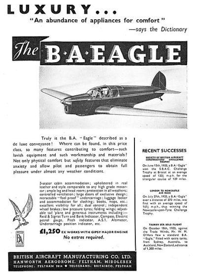 British Aircraft EAGLE 1935-16625