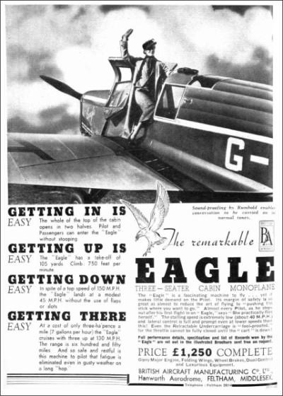 British Aircraft EAGLE 1936-1