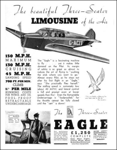 British Aircraft EAGLE 1936-6