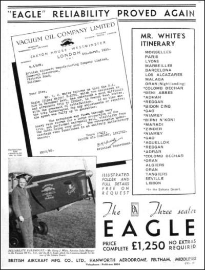 British Aircraft EAGLE 1936-8