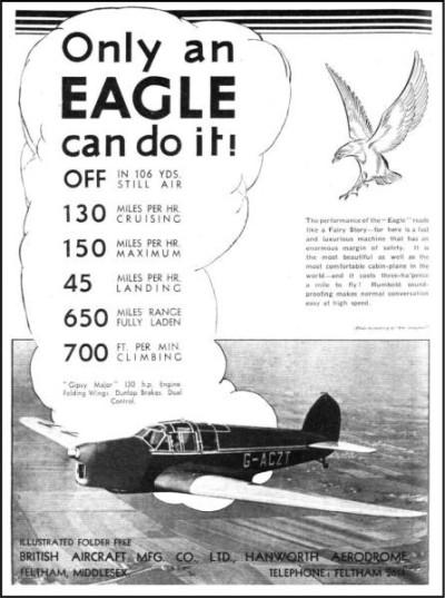 British Aircraft EAGLE 1937-1