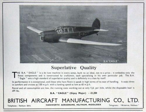 British Aircraft EAGLE G-ACZT