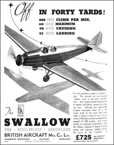 British Aircraft SWALLOW 1936-4