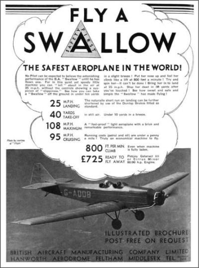 British Aircraft SWALLOW 1937-2
