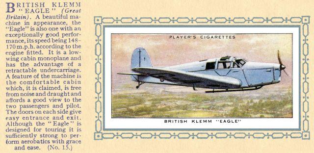 British Klemm EAGLE (Players 15)