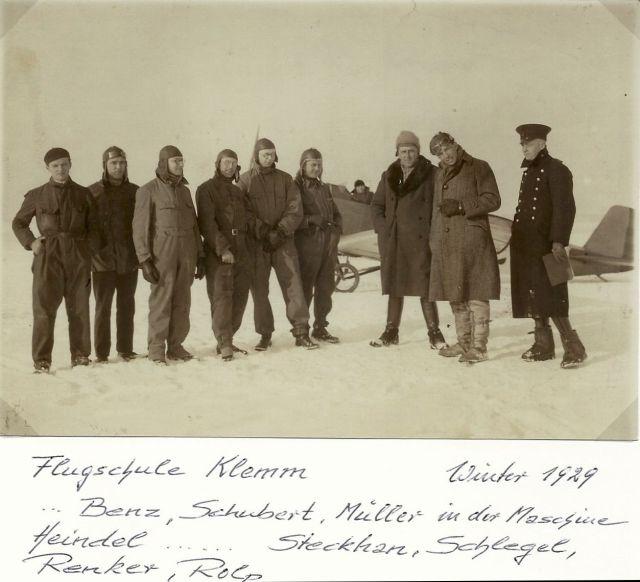 Fliegerschule Klemm-Flug Winter 1929