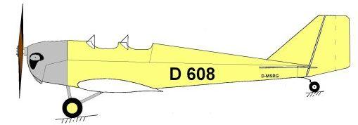 Klemm-Daimler L20 Seitenriss