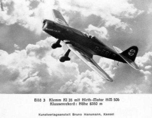 Klemm-Bild03 KL35 mit Hirth-Motor Hm506 (Haverland)