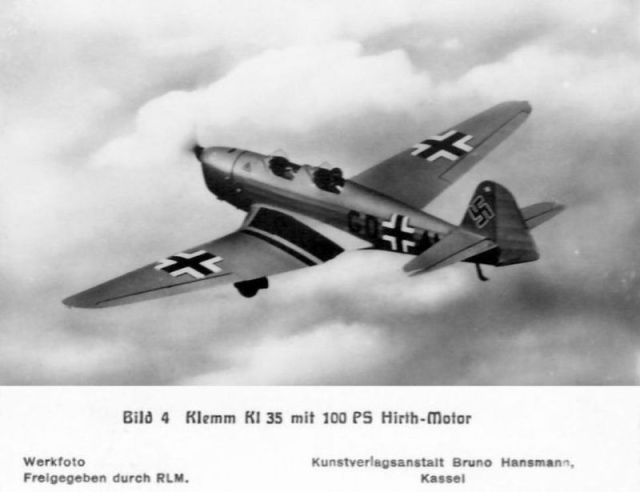 Klemm-Bild04 KL35 mit 100 PS Hirth-Motor (Haverland)