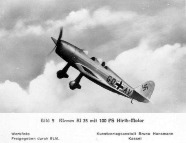 Klemm-Bild05 KL35 mit 100 PS Hirth-Motor (Haverland)