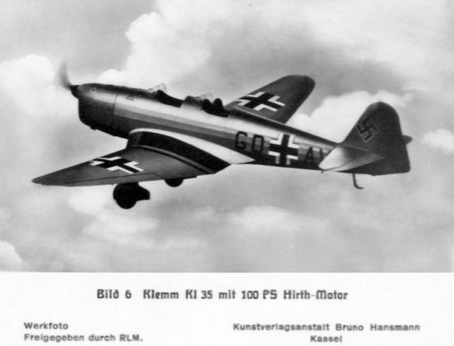 Klemm-Bild06 KL35 mit 100 PS Hirth-Motor (Haverland)