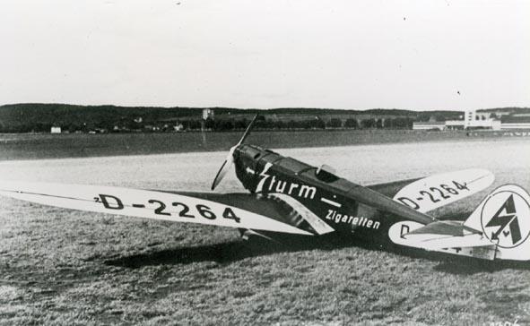 Klemm KL26 D-2264 Sturm Zigaretten