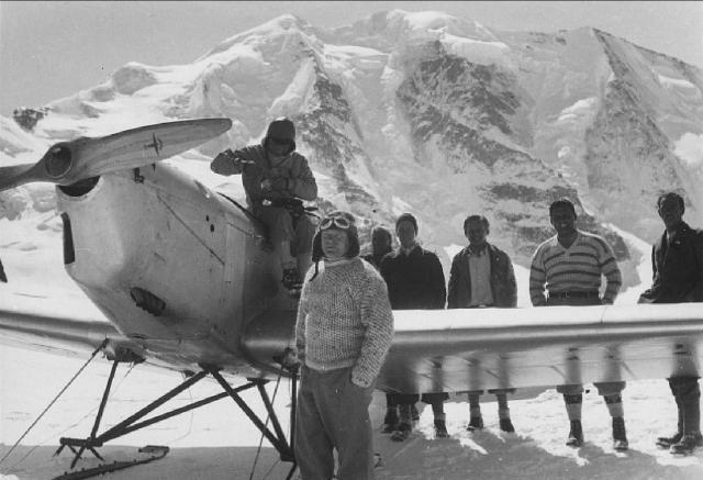 KLemm KL26 D-2269 Udet 28.3.1933 bei Diavolezza-Hütte Bernina-Gebiet