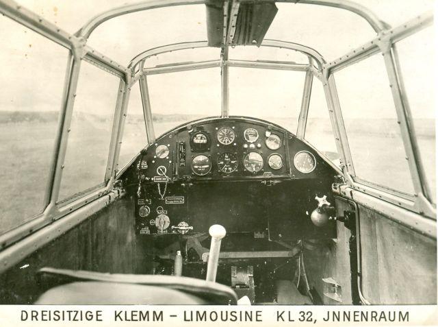 Klemm KL32 Innenraum