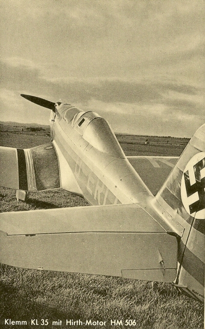 Klemm KL35 D-ER Hirth HM 506