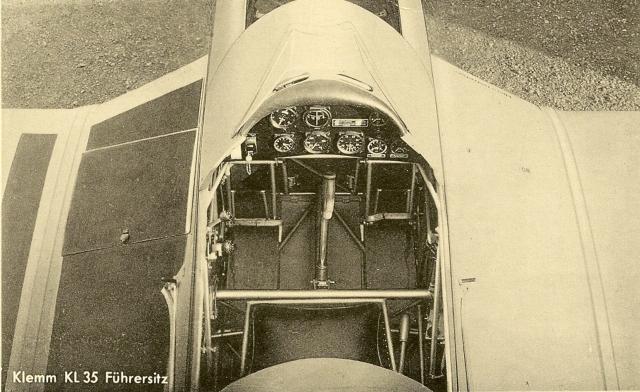 Klemm KL35 Führersitz