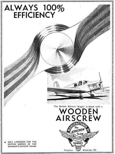 British Klemm EAGLE (Flight September 20th 1934)