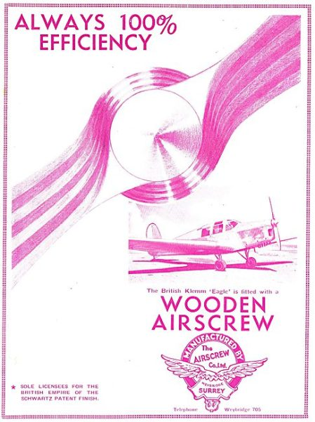 British Klemm EAGLE ( Flight September 6th 1934)