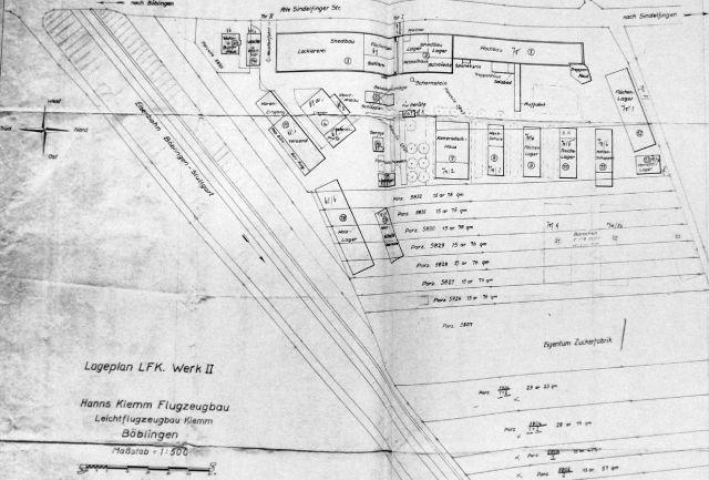 1940-09-03 Lageplan LFK Werk II small